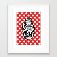 guinea pig Framed Art Prints featuring Guinea Pig Baking Extraordinaire  by Katy Shorttle