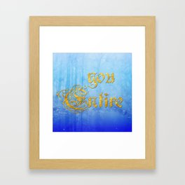 You, entire Framed Art Print