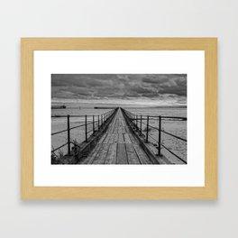 The Pier. Framed Art Print