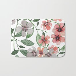 FLOWERS WATERCOLOR 12 Bath Mat