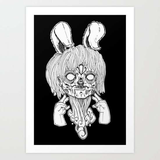 Gang sign. Art Print