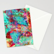 abstract orchid Stationery Cards