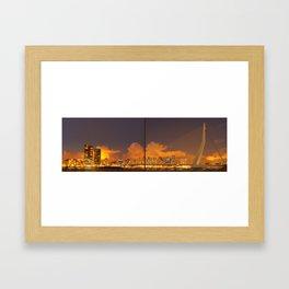 panorama from rotterdam Framed Art Print