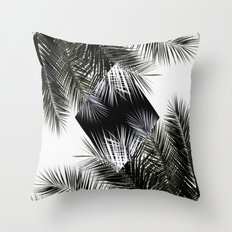 Palm Leaves 3 Geometry Throw Pillow