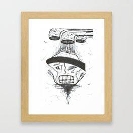 Black Belt Drip Germ WHT Framed Art Print