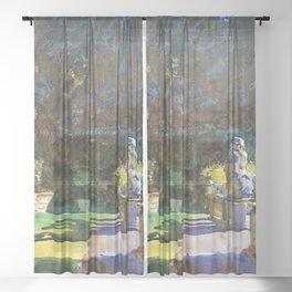 "John Singer Sargent ""Villa di Marlia, Lucca"" Sheer Curtain"