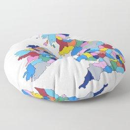 England, Ireland, Scotland & Wales Floor Pillow