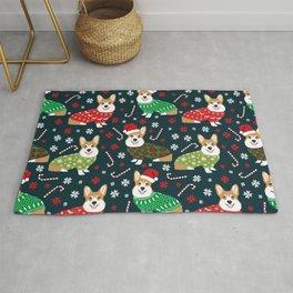 Corgi christmas sweater ugly sweater party with welsh corgis dog lovers dream christmas Rug