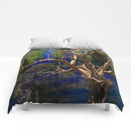 CONTEMPORARY BLUE  WILDERNESS ART  DESIGN Comforters