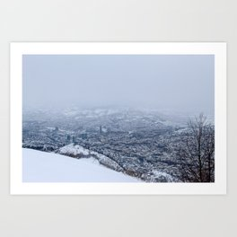 Beautiful view of Sarajevo Art Print