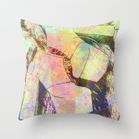 shoes Throw Pillows featuring shoes by Maria Enache