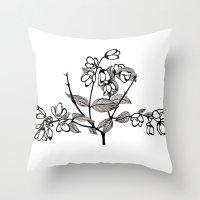 jasmine Throw Pillows featuring Jasmine by Dianadia