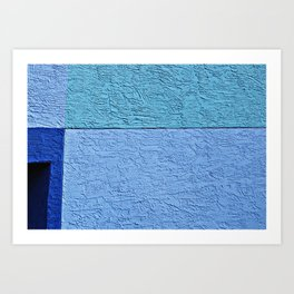 Textured Blues Art Print