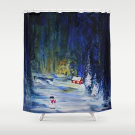 Out alone Shower Curtain