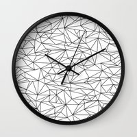 the wire Wall Clocks featuring Geometric Wire by Maiko Nagao