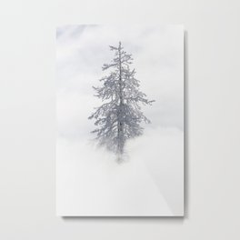 Yellowstone National Park - Ice Covered Tree Metal Print