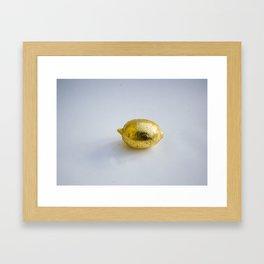 Gold Plated Lemon Tequila Framed Art Print