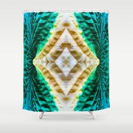 85 - Hosta abstract pattern Shower Curtain