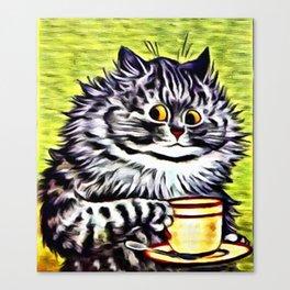 "Louis Wain's Cats ""Kitty On Coffee Break"" Canvas Print"