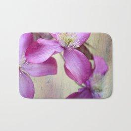 purple clematis  Bath Mat