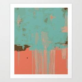 Infinity abstract art print pink turqoise Art Print