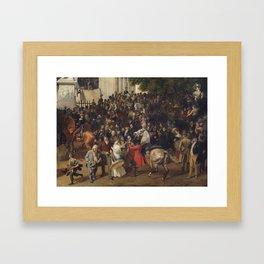 Franz Krüger: Parade in Berlin in 1822 Framed Art Print