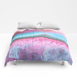 Rose Quartz and Serenity Agate Comforters