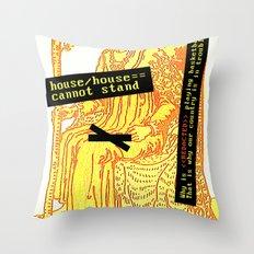 King Combover Throw Pillow