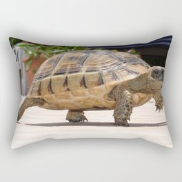 Marching Baby Tortoise  Rectangular Pillow