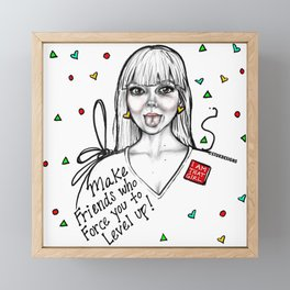 #STUKGIRL MADDY Framed Mini Art Print