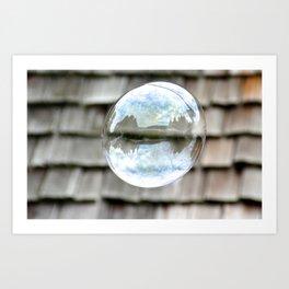 bubble wishes 2 Art Print