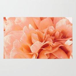 Peach Pink Peony Bunch Rug