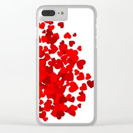 Hearts falling out of an envelope Clear iPhone Case
