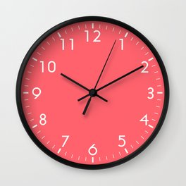 Coral Red Wall Clock