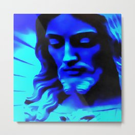 Blue Jesus Metal Print