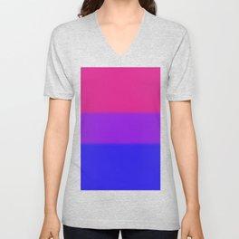 Bisexual Pride Flag v2 Unisex V-Neck