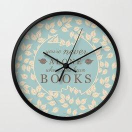 Book Lovers Wall Clock