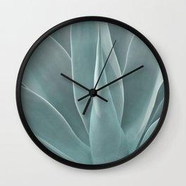 Azul Succulent Agave Plant Wall Clock