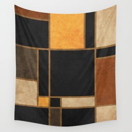Mondrian Inspired 2 - Modernist Geometric Abstract Wall Tapestry