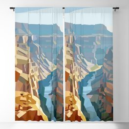 Geometric Grand Canyon National Park, USA Blackout Curtain