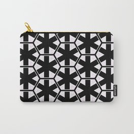 Multi Pattern Black and White Design Carry-All Pouch