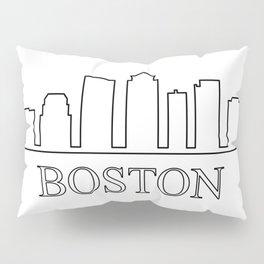 Boston skyline Pillow Sham