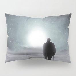 Old Man Walking Towards Heaven Pillow Sham