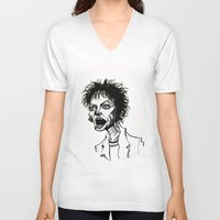 wes anderson V-neck T-shirts featuring Laurie Anderson by Simone Bellenoit : Art & Illustration