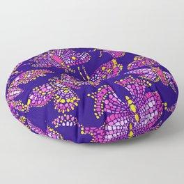 Butterfly Pattern Pink Purple Blue Floor Pillow