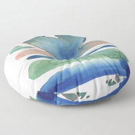 Watercolour Abstract - Calm Blues Floor Pillow