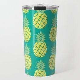 Summer Pineapple Pattern Travel Mug