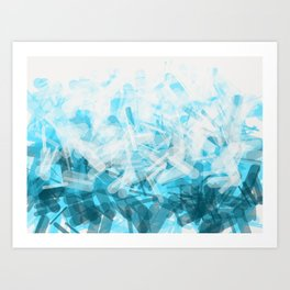 blue pills Art Print