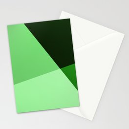 Four shades of green. Stationery Cards