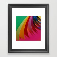 Colorful Paper Framed Art Print